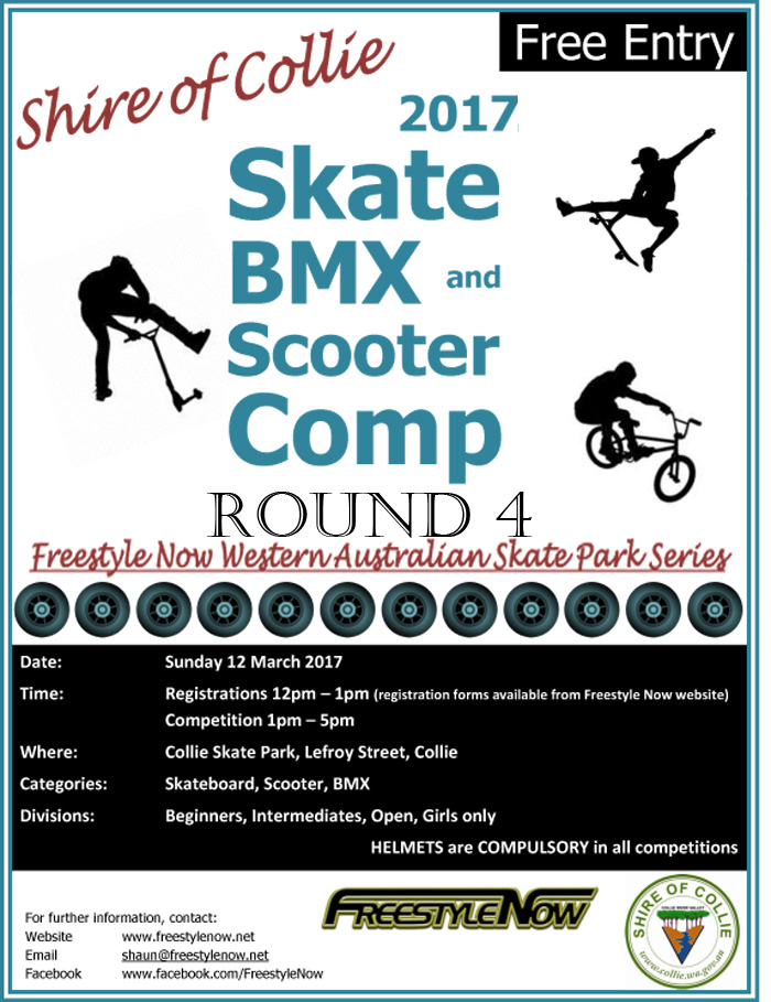 Collie skateaprk competition 12th March 2017 bmx skateboard scooter