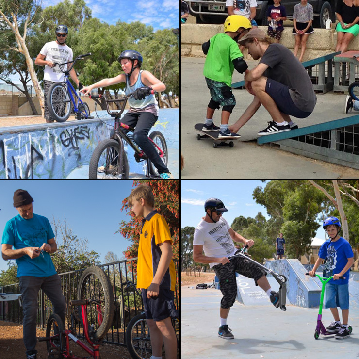 Freestyle Now coaching workshops scooter bmx skateboard skateparks