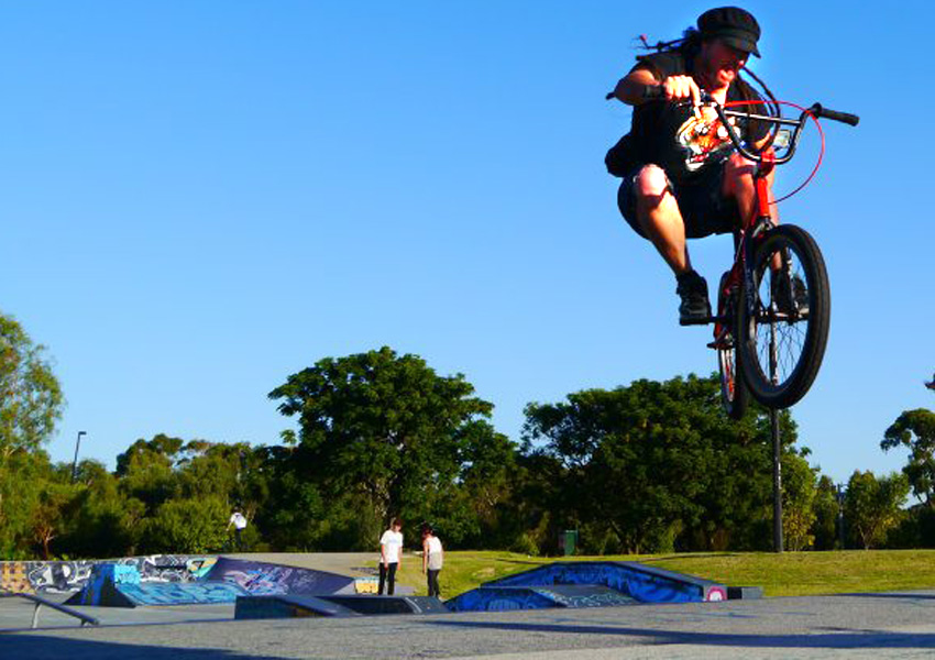 Kim Bloodson at Manning skatepark