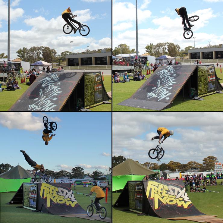 Kellerberrin bmx stunt shows 2013 3