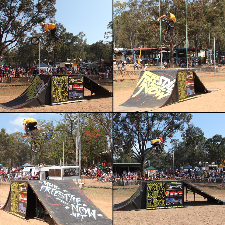 Freestyle Now bmx stunt show Gidgegannup agricultural show 1