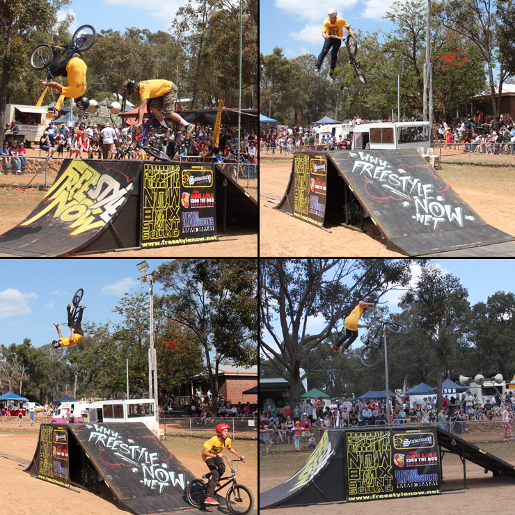 Freestyle Now bmx stunt show Gidgegannup agricultural show 2