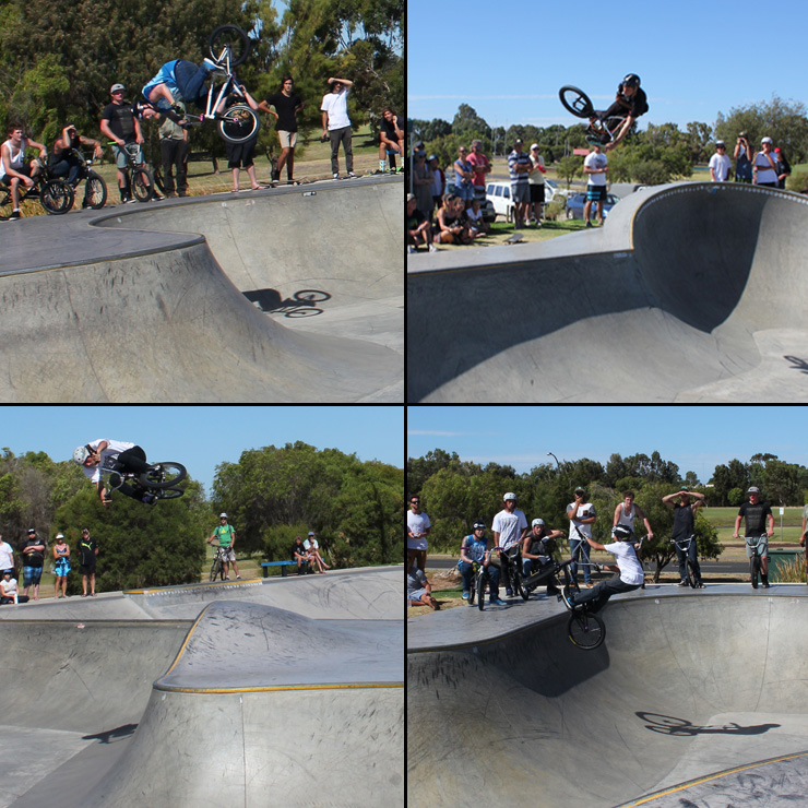 Dunsborough skatepark competition bmx bowl 2014