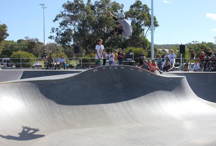 Dunsborough skatepark competition skateboard bowl - Lachlan Micale 2014