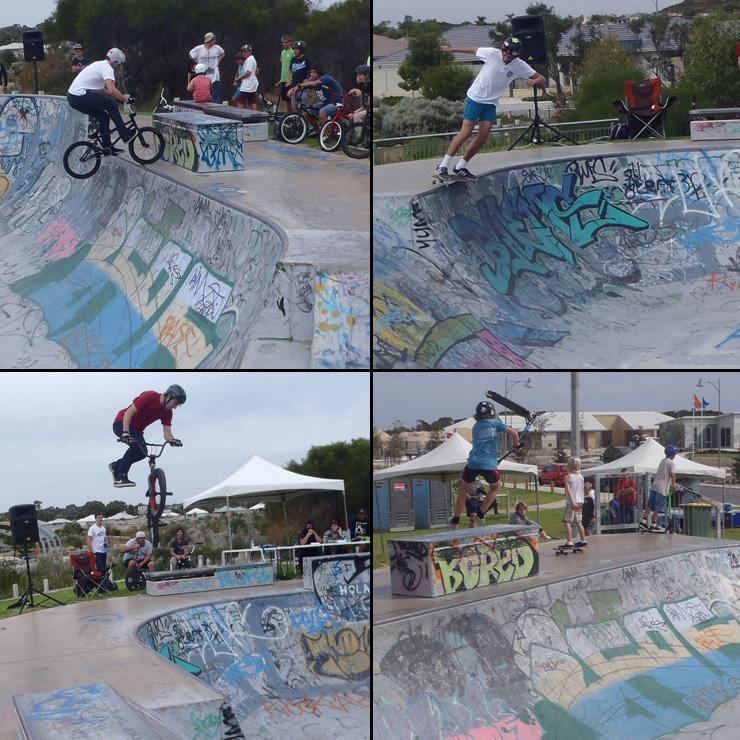 Golden Bay skatepark competition April 2014 bmx skateboard scooter competition