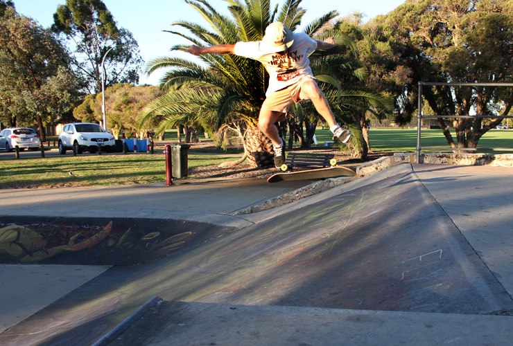 Mitch Harris Freestyle Now Willetton skatepark skateboard