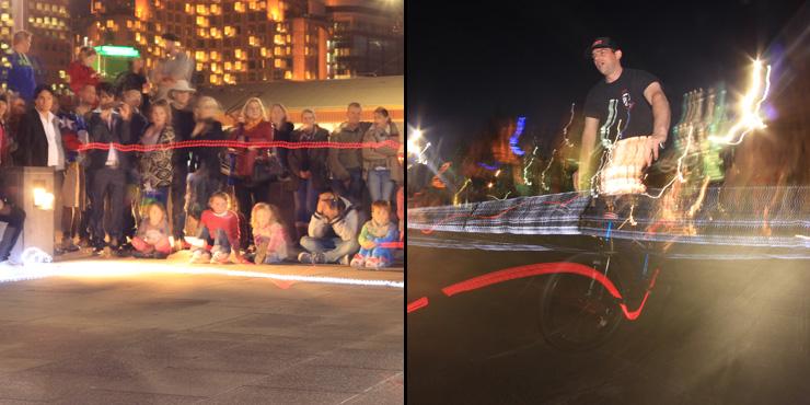 Freestyle Now federation square bmx flatland stunt show June 2014 - Photo Greg Barns