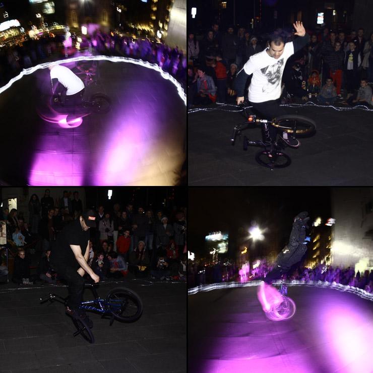 melbourne federation square freestyle now bmx stunt show 21 june 2014
