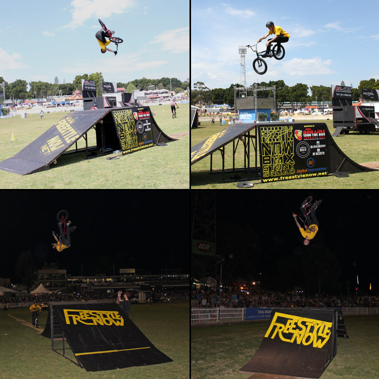 Perth royal show 2014 day 5 - freestyle now bmx stunt show