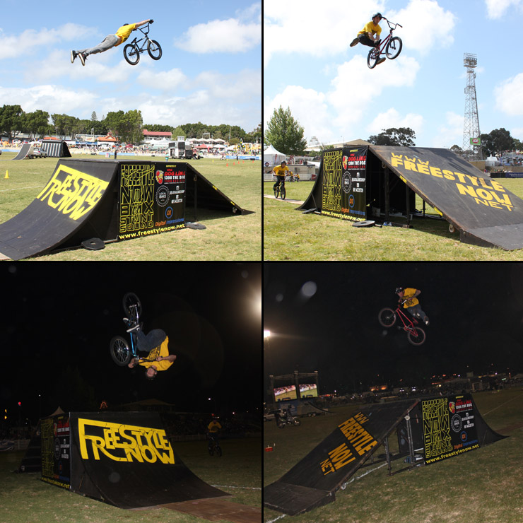 Perth royal show 2014 day 6 - freestyle now bmx stunt show