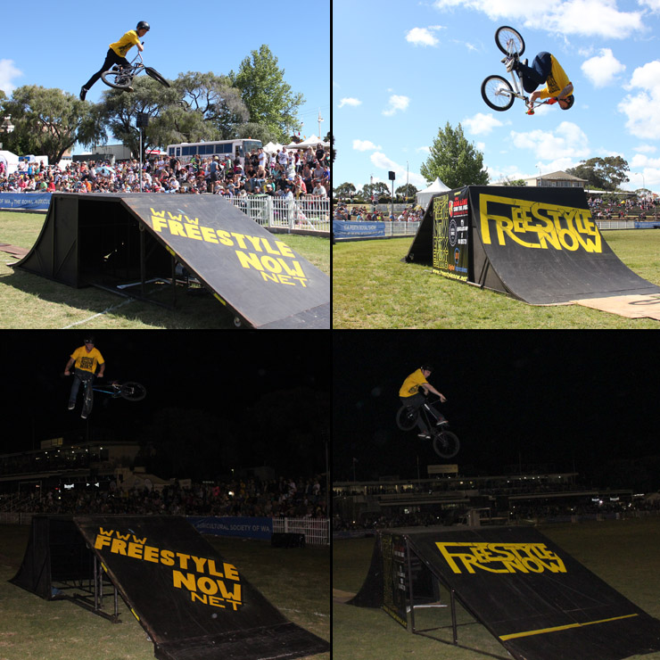 Perth royal show 2014 day 7 - freestyle now bmx stunt show