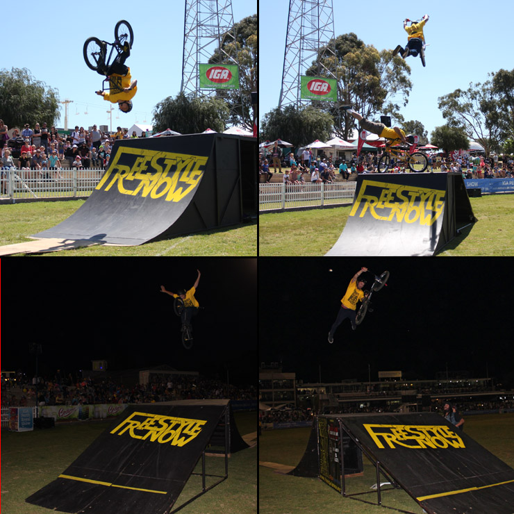 Perth royal show 2014 day 8 - freestyle now bmx stunt show