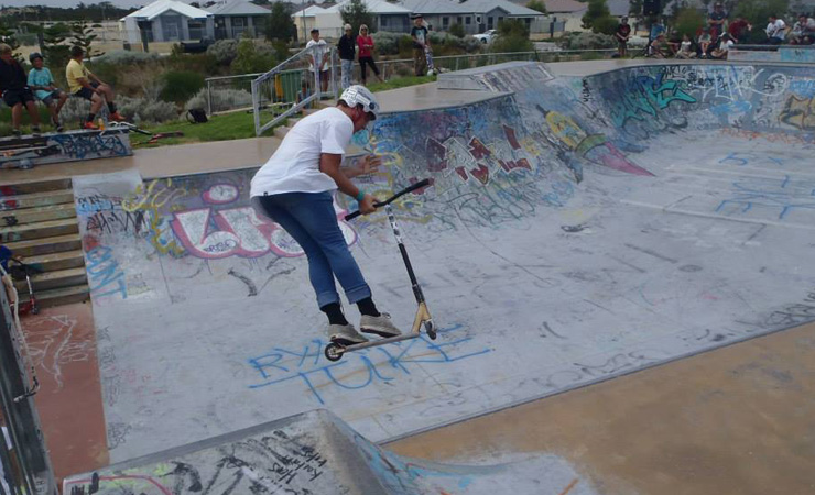 Aden Lillas at golden bay skatepark competition2014
