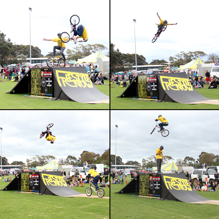 Freestyle Now bmx stunt show - Margaret River Agricultural show 1 2014
