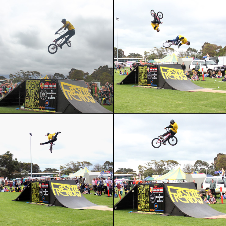 Freestyle Now bmx stunt show - Margaret River Agricultural show 2 2014