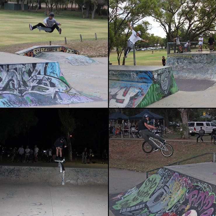 Freestyle now Kwinana skatepark competition february 2015 skate scooter bmx