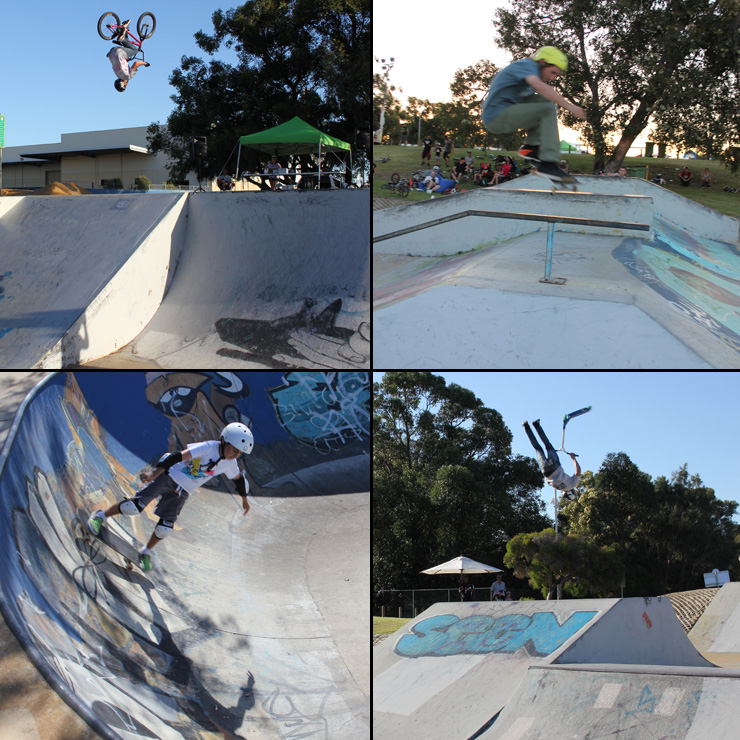 Freestyle Now Bayswater skatepark competition March 2015 skate scooter bmx