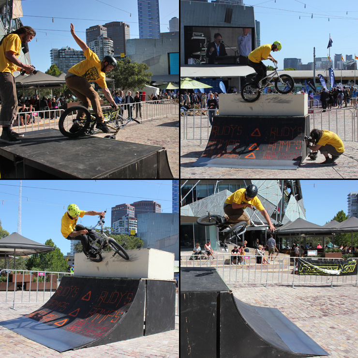 Freestyle Now Federation Square bmx stunt shows February 2015