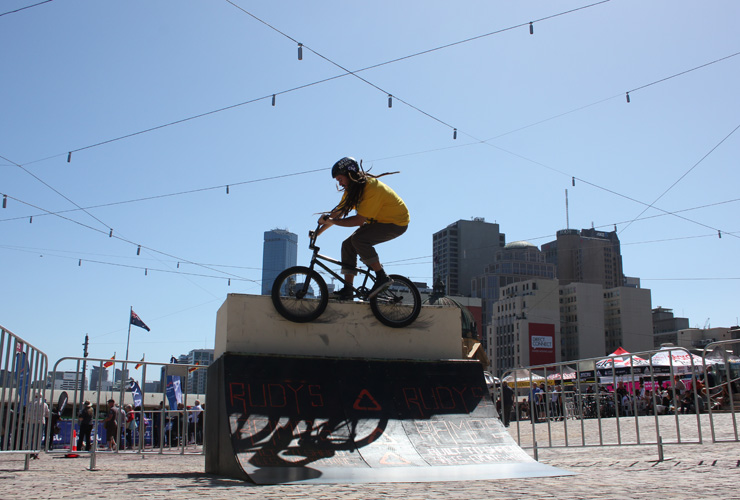 Freestyle Now Federation Square bmx stunt shows Greg Barnes February 2015