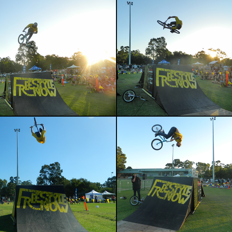 Freestyle Now bmx stunt show - Corymbia festival 2015