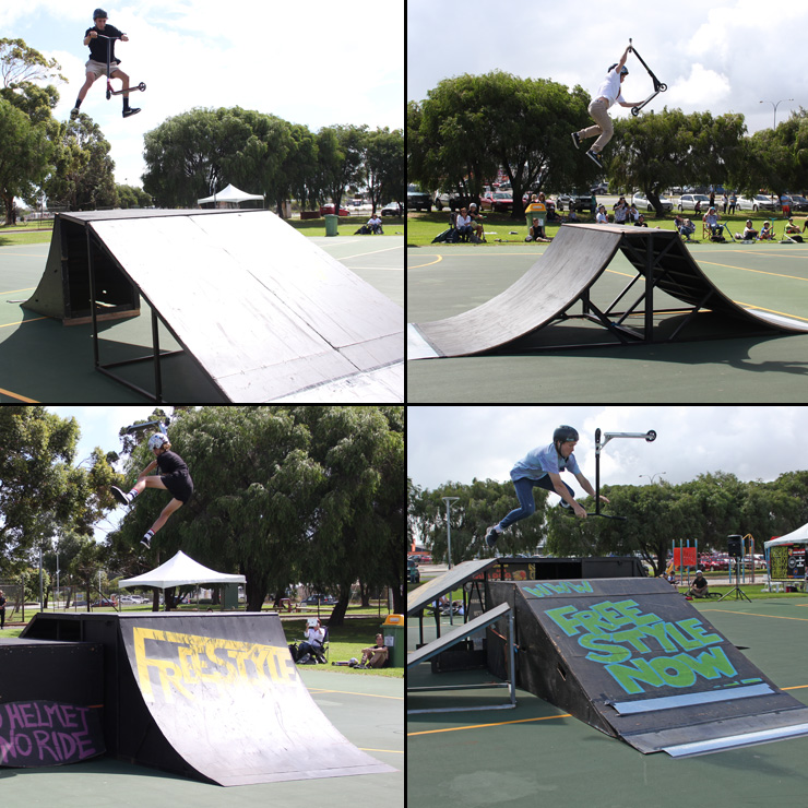 Freestyle Now rocky's final fest 2015 scooter competition April 2015 bmx skateboard scooter competition