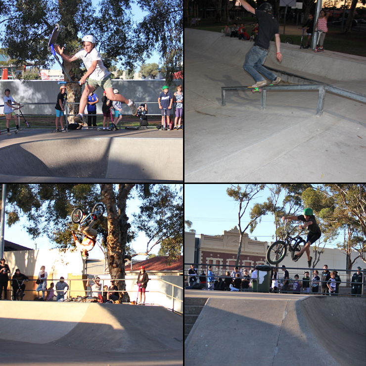 Freestylew Now Kalgoorlie skatepark competition April 2015 bmx skateboard scooter competition
