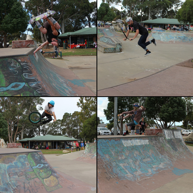Freestylew Now margaret river skatepark competition May 2015 bmx skateboard scooter competition