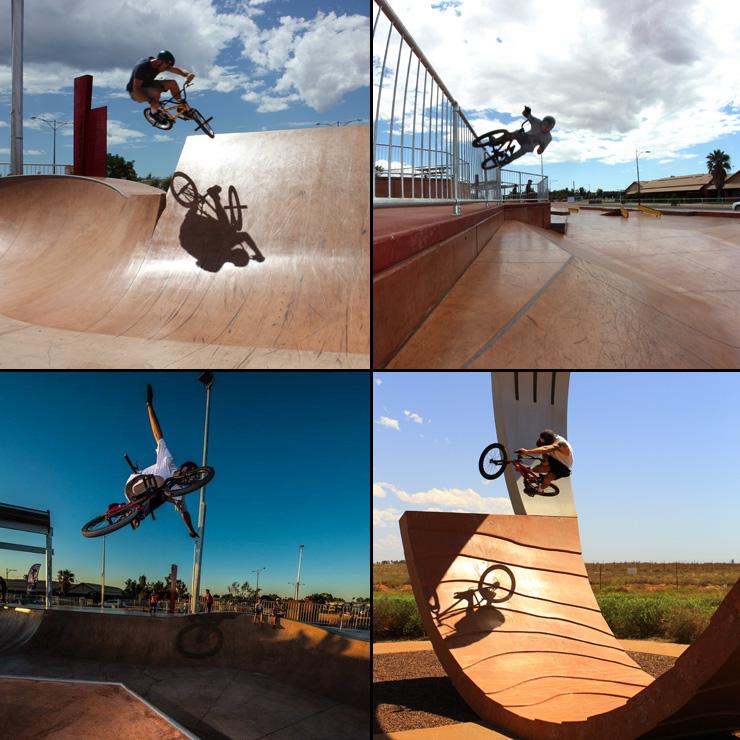 Freestyle Now Port Hedland skatepark bmx March 2015