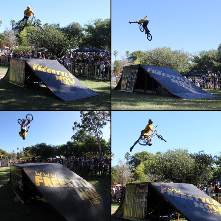 Freestyle Now bmx stunt show - 2 John Hughes slopestyle April 2015