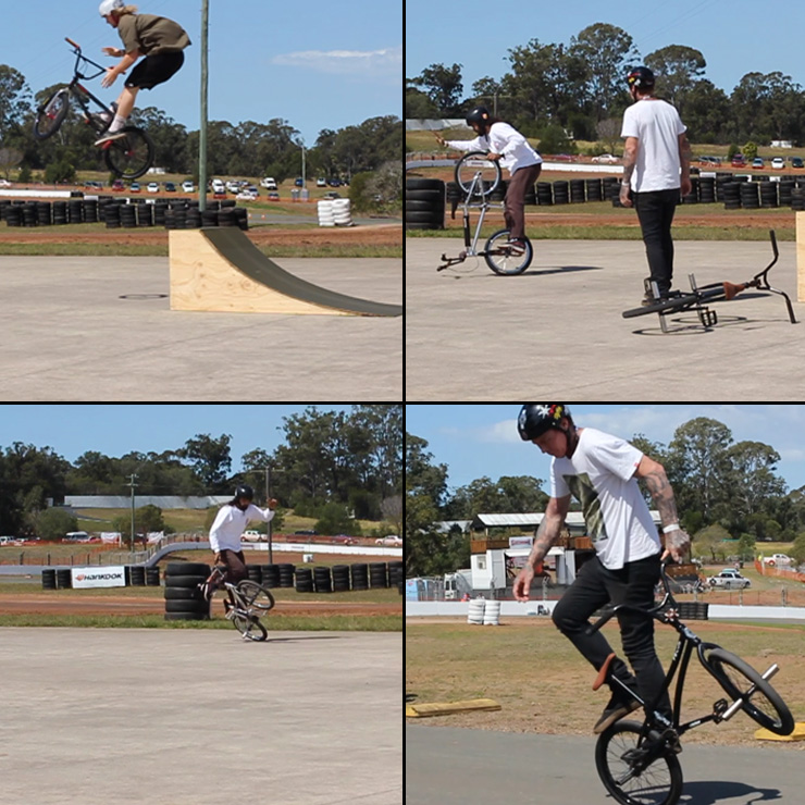 Freestyle Now bmx stunt show - Flatland bmx - Brisbane Rally Cross September 2015