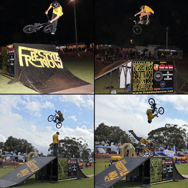 Freestyle Now bmx stunt show - Northam Agricultural show 2015