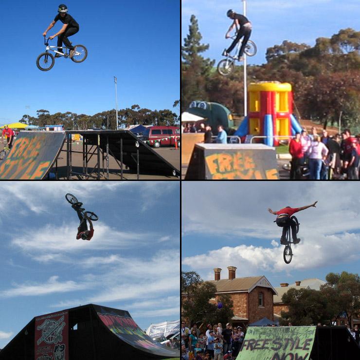 Kie Ashworth bmx stunt shows 2005 - 2007