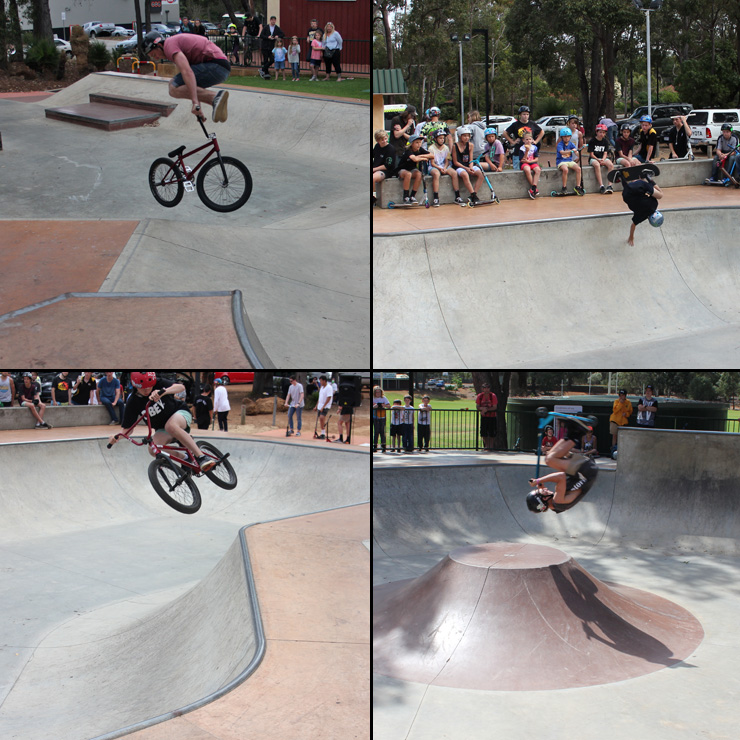 Freestyle Now - Roleystone skatepark competition october 2015 - bmx skateboard scooter