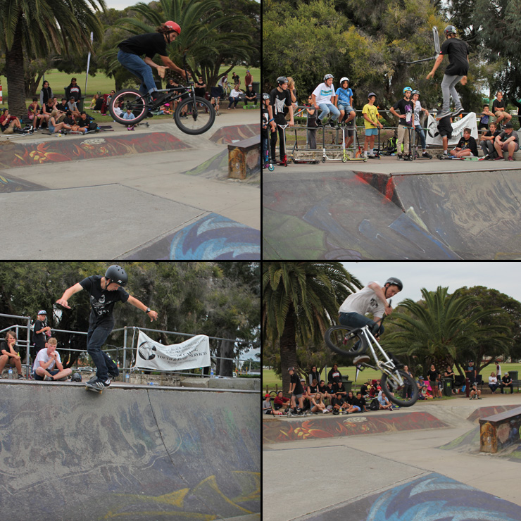 willetton skatepark competition october 2015 - bmx scooter skateboard