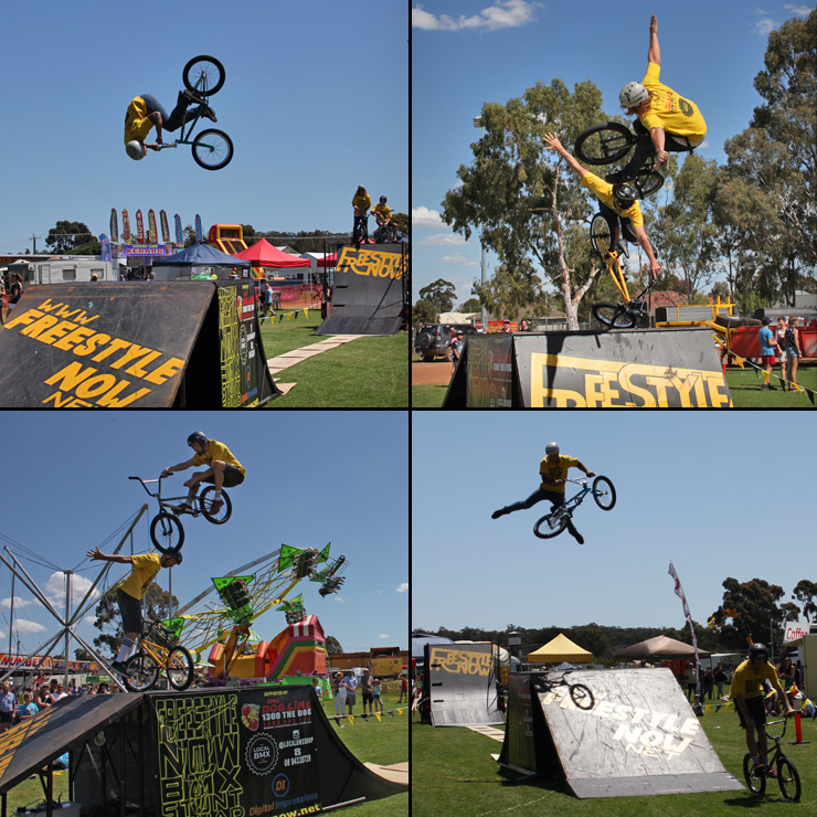 Freestyle Now bmx stunt show - Narrogin Agricultural show 2015