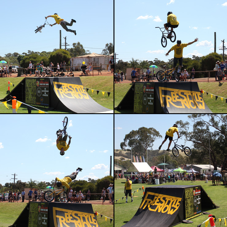 Freestyle Now bmx stunt show - Toodyay agricultural show october 2015