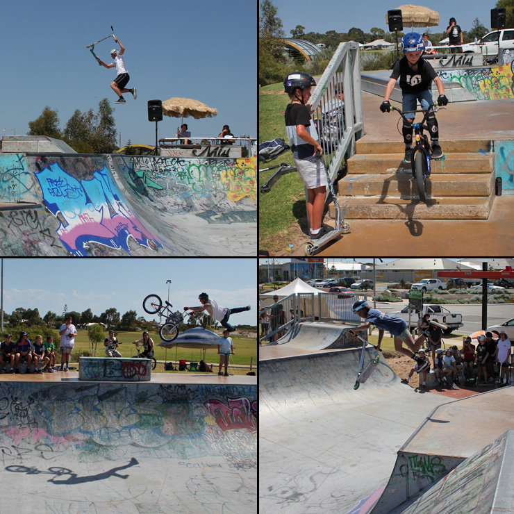 Golden Bay skatepark competition bmx skateboard scooterFreestyle Now