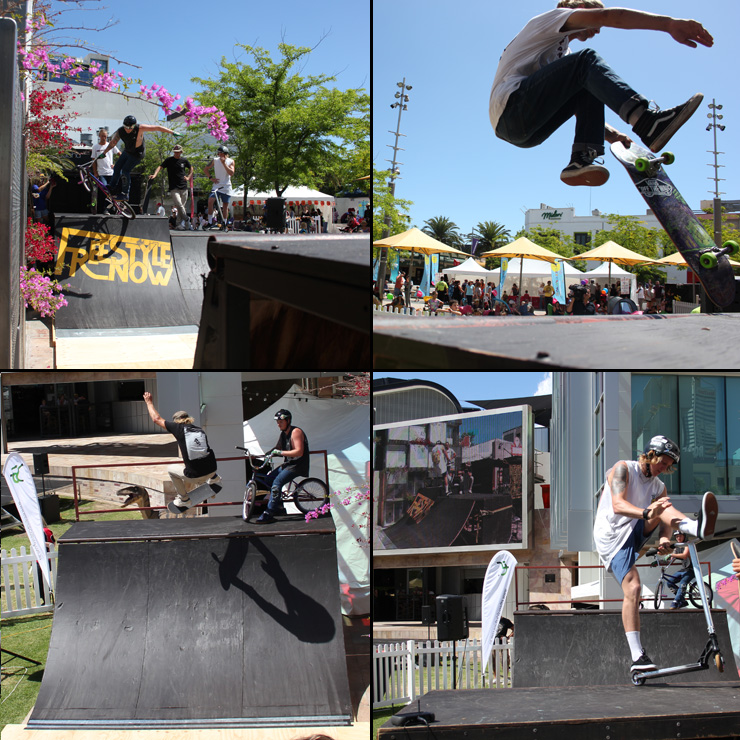 Freestyle Now bmx scooter skateboard stunt show Northbridge Piazza Carnival Macabre