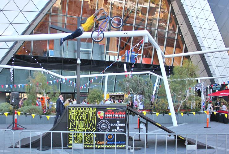 Freestyle Now bmx stunt show - Dylan Schmidt at Perth Arena dec 2015