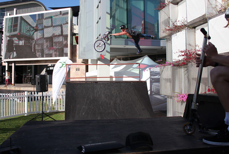 Freestyle Now bmx stunt show Northbridge Piazza Carnival Macabre Dylan Schmidt