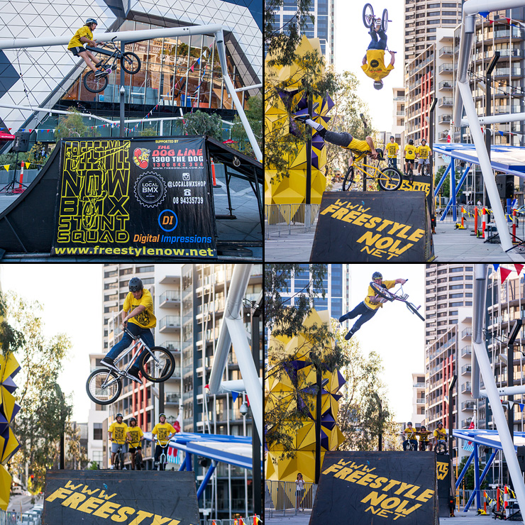 Freestyle Now bmx stunt show at Perth Arena dec 2015 photos Duncan Barnes
