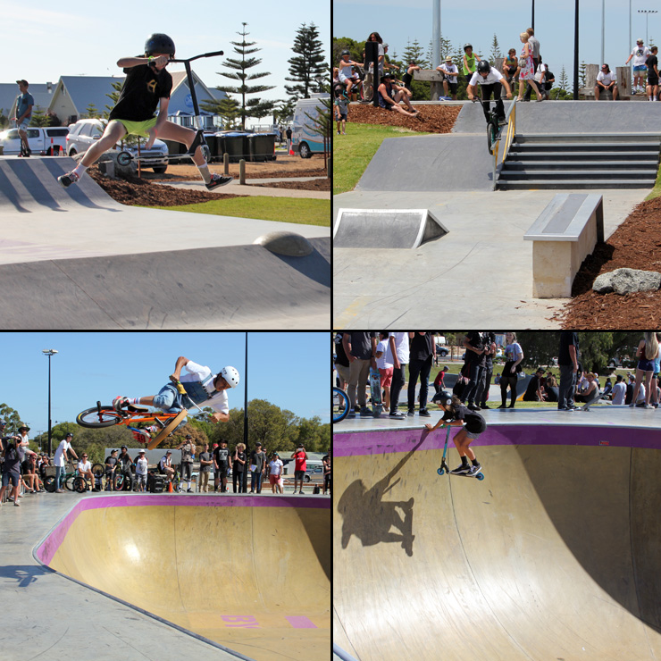 Freestyle Now busselton skatepark competition december 2015 - bmx scooter
