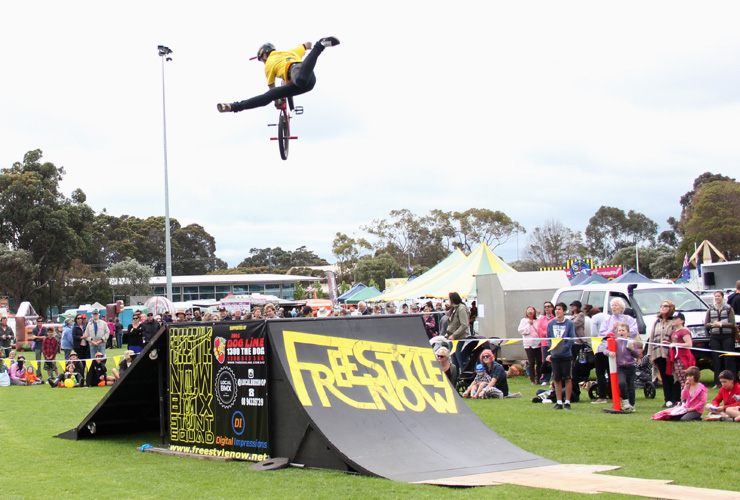 Lee Kirkman Indian air at margaret river freestyle now bmx show