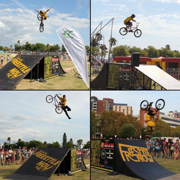 Freestyle Now bmx stunt show 1 - Australia day 2016