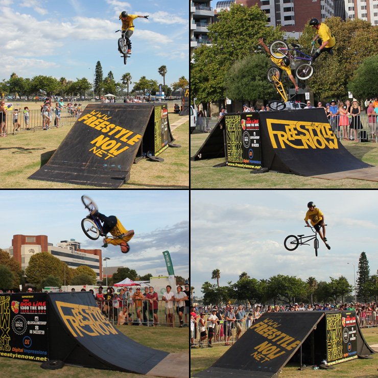 Freestyle Now bmx stunt show 2 - Australia day 2016