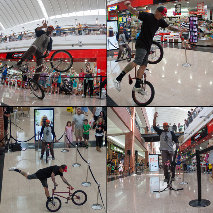 Freestyle now bmx stunt show - Westfield Penrith shopping centre Paul Chamberlain and Lee Kirkman