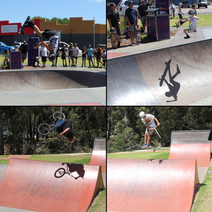 Freestylew Now Collie skatepark competition February 2016 bmx skateboard scooter competition