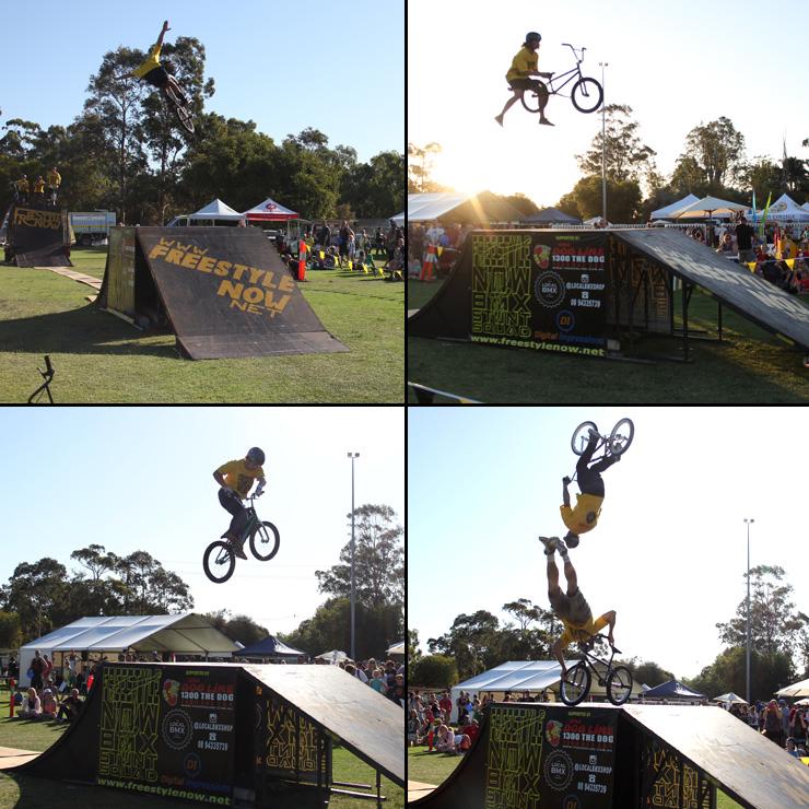 Freestyle Now bmx stunt show - Corymbia festival 2016