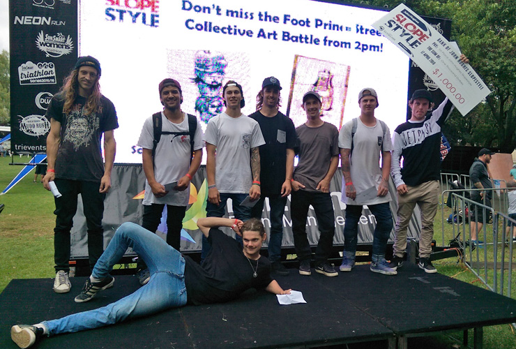 John Hughes Slopestyle 2016 top 8 winners