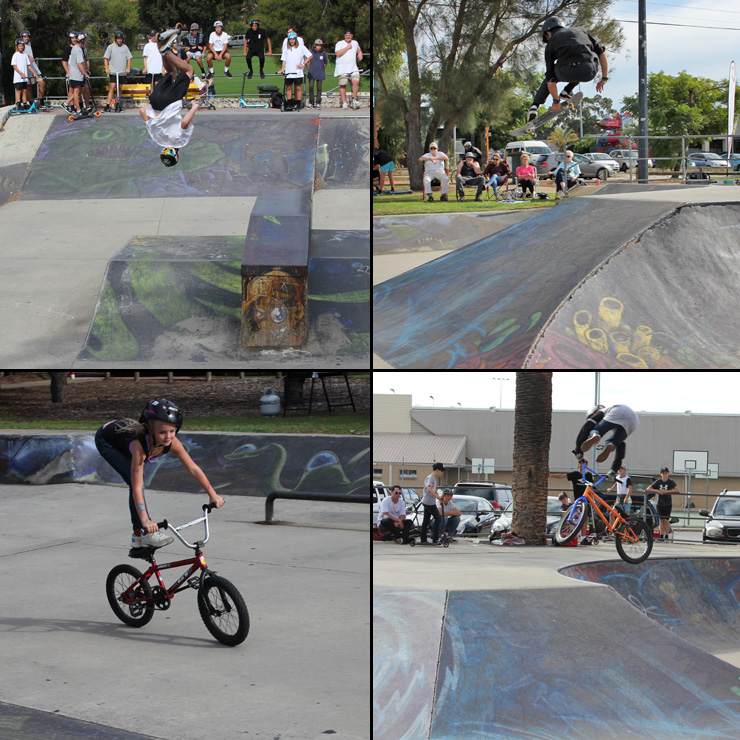 freestyle now - Willetton skatepark bmx skateboard scooter competition april 2016